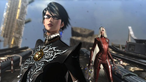 Bayonetta wallpaper probably with sunglasses called Bayonetta and Jeanne