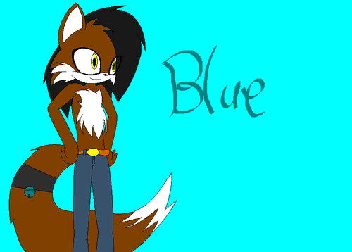 Blue the fox