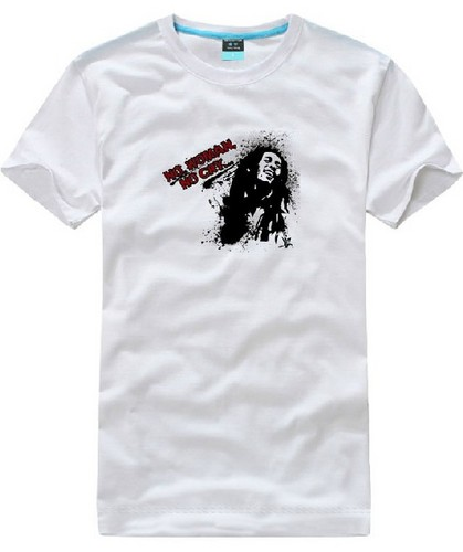 Bob Marley NO WOMAN NO CRY logo short sleeve t camisa