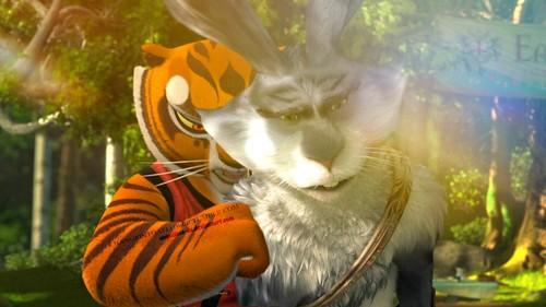 Disney crossover karatasi la kupamba ukuta probably containing a kitten and a tom entitled Bunnymund/Tigress