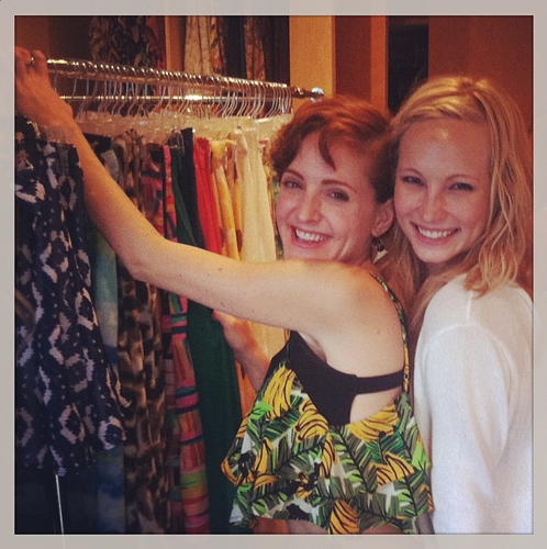 Candice at a دکھائیں Me Your Mumu sample sale [25/06/13]