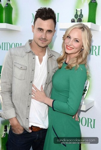 Candice Accola Обои probably with an outerwear, a leisure wear, and a well dressed person entitled Candice attends Midori's Happy час Style Event [20/06/13]