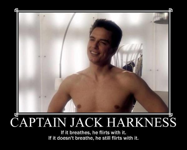 Captain Jack Harkness,John barrowman and David Tennant
