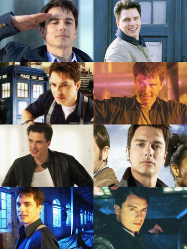 doctor who fondo de pantalla called Captain Jack Harkness,John barrowman and David Tennant