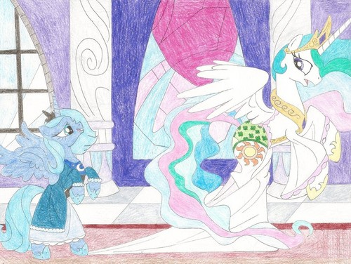 My Little pony - Freundschaft ist Magie Hintergrund possibly with Anime entitled Celestia and Luna