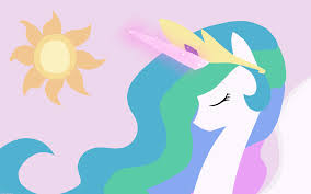 My Little pony - Freundschaft ist Magie Hintergrund possibly with a venn diagram titled Celestia and Luna