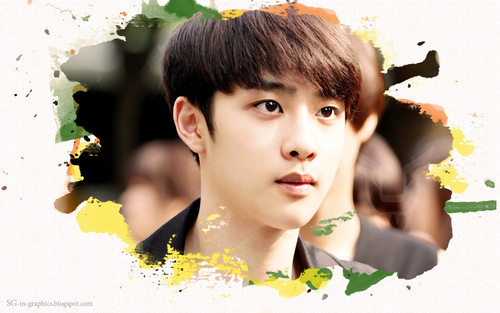EXO wallpaper containing a bouquet, a begonia, and a camellia titled D.O