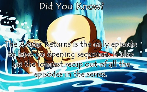 Avatar: The Last Airbender پیپر وال probably containing a sign and a portrait titled Did آپ Know?