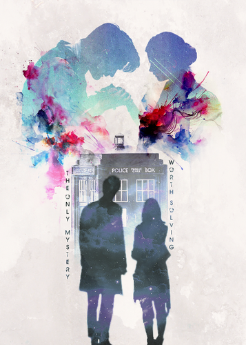 The Eleventh Doctor karatasi la kupamba ukuta containing a bouquet titled Eleven and Clara Fanart :)