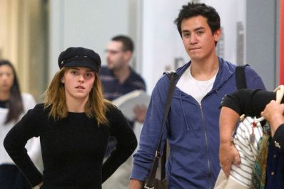 Emma Watson And Her Boyfriend Will Adamowicz Touch Down In New York City On June, 24
