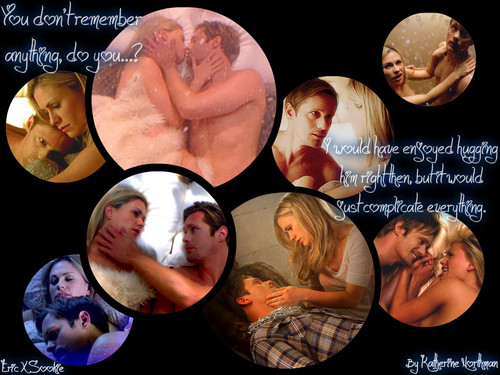 "True Blood wallpaper called Eric & Sookie ""You don't remember"""