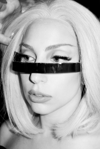 Gaga at NYC Pride Rally on June 28 (By Terry Richardson)