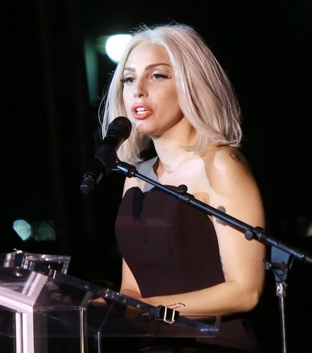 Gaga at NYC Pride Rally