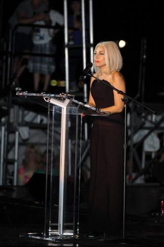 Gaga at the NYC Pride Rally (June 28th)