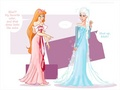 Giselle and Elsa similarities