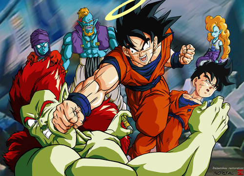 dragon ball z wallpaper with anime called goku save Gohan