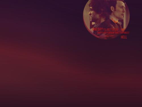 한니발 TV 시리즈 바탕화면 possibly containing a sunset titled Hannibal Lecter & Will Graham