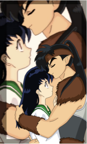 koga and kagome fondo de pantalla containing anime entitled His bliss
