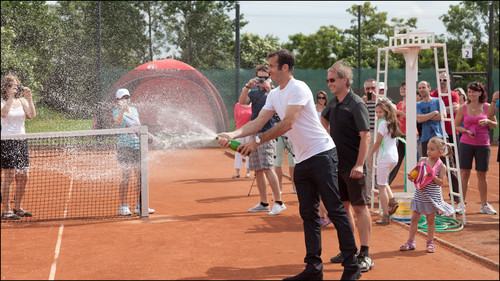 How sprayed Radek Stepanek ..