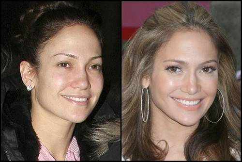 JLo-before-and-after-make-up 2006