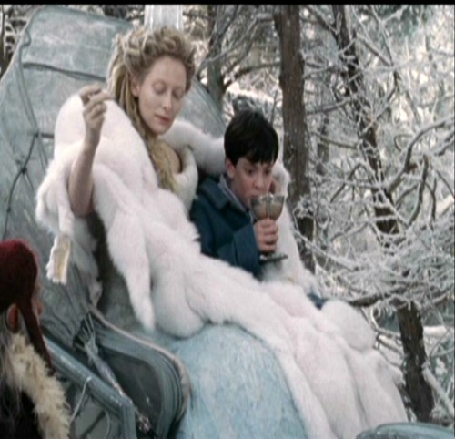 The Lion The Witch and the Wardrobe wallpaper probably containing an igloo called Jadis makes Edmund his Turkish Delight.