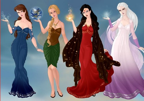Avatar:The Last Airbender OC's fondo de pantalla with a cena dress called Jane,Stella,Dawn, and Joselyn