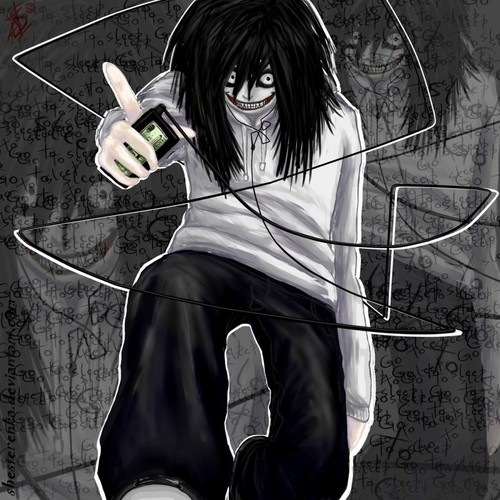 Jeff the killer with his MP3 player