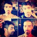 Joe Jonas shaved his head - the-jonas-brothers photo