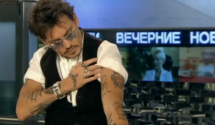 johnny depp wallpaper titled Johnny-new tattoo
