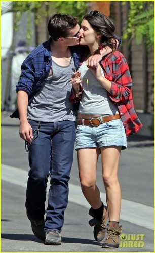 Josh Hutcherson & Claudia Traisac Kiss After Motorcycle Ride! [HQ]