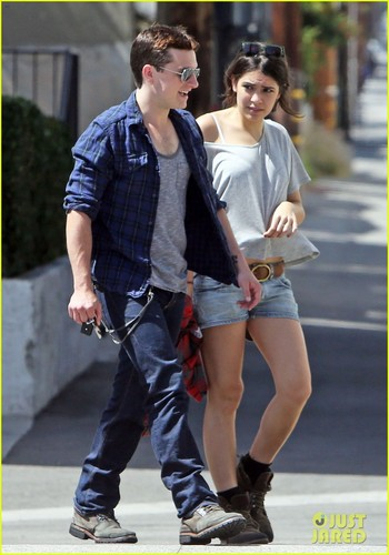 Josh Hutcherson & Claudia Traisac halik After Motorcycle Ride! [HQ]