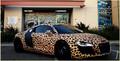 Justin Bieber Audi R8 leopard-print , 2013