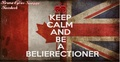 KEEP CALM AND BE A BELIERECTIONER - beliebers fan art
