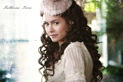 Vampire Diaries fond d'écran probably with a mantille, mazouzi and a mantelet entitled Katherine Pierce