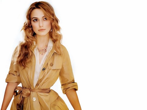 Keira Knightley wallpaper containing a trench cappotto and a burberry called Keira Knightley wallpaper