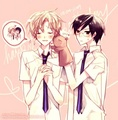 Kyoya and Tamaki (Ouran) - yaoi fan art