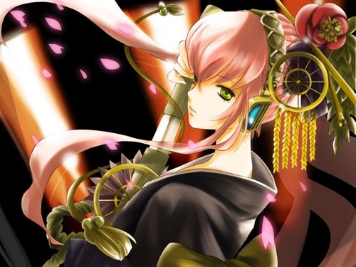 Megurine Luka wallpaper probably containing a bouquet entitled LUKA