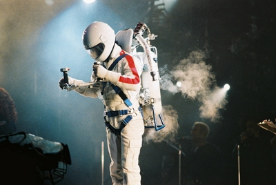 Leaving The концерт Stage In Bucharest, Romania After His Live Performance Back In 1992