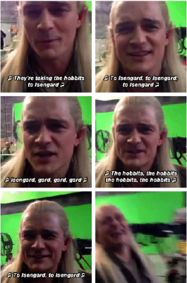 Legolas Greenleaf wallpaper possibly containing a portrait called Legolas - Behind the Scenes of The Desolation of Smaug