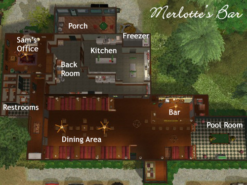 Merlotte's Bar Layout