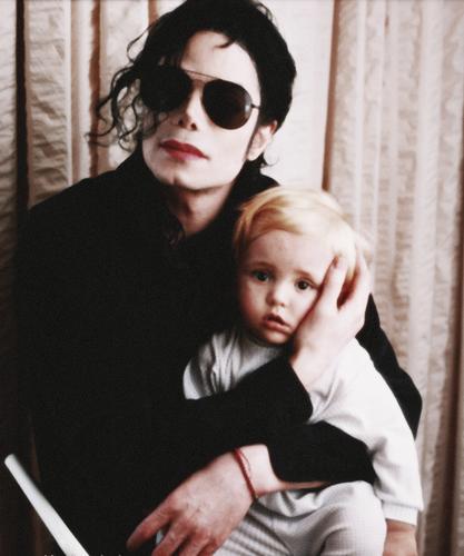 Michael Jackson and his son Prince Jackson ♥♥