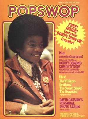 "Michael On The Cover Of The February 24, 1973 Issue Of ""POPSWOP"" Magazine"