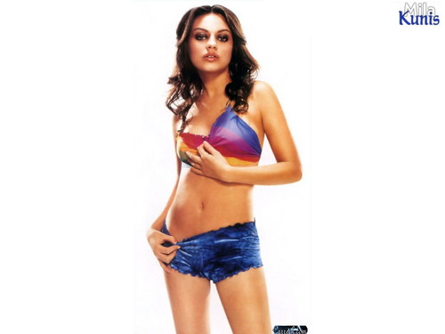 Mila Kunis wallpaper with a bikini titled Mila Kunis