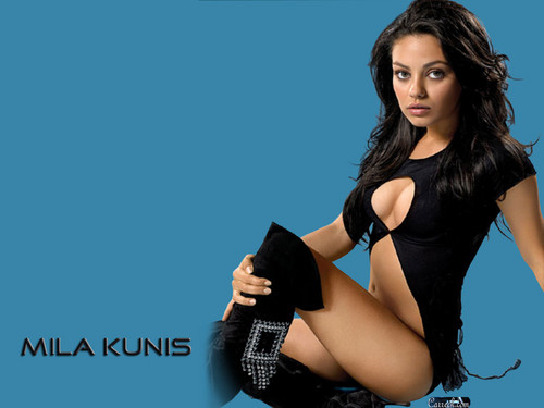 Mila Kunis achtergrond possibly with a leotard and tights called Mila Kunis