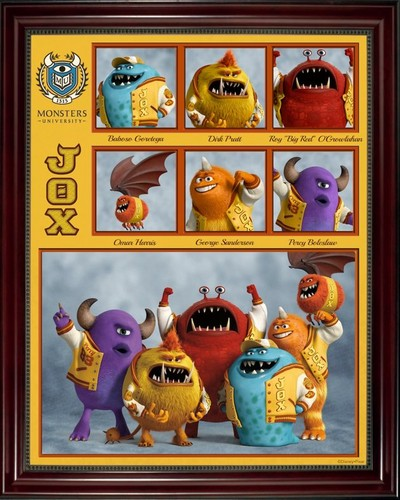 Monsters, Inc. wallpaper possibly with a stained glass window titled Monsters University Fraternities and Sororities