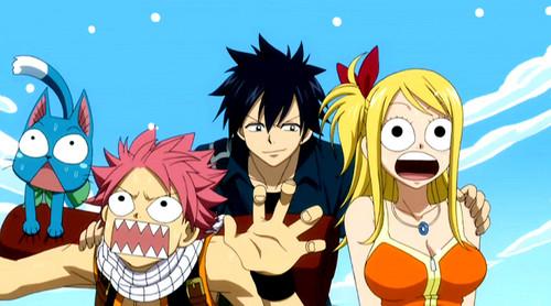 Natsu, Gray and Lucy