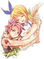 Natsu and Lucy the cute couple