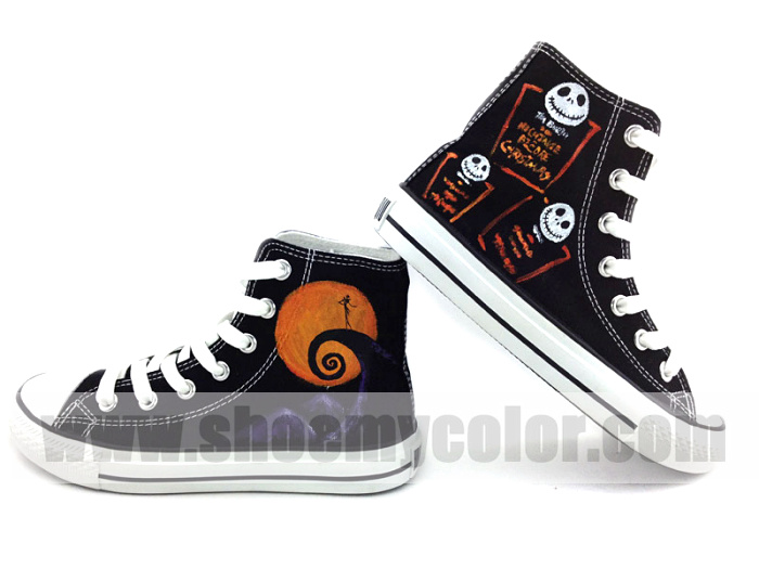 Nightmare before Weihnachten high oben, nach oben sneaker