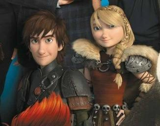 Older Hiccup and Astrid