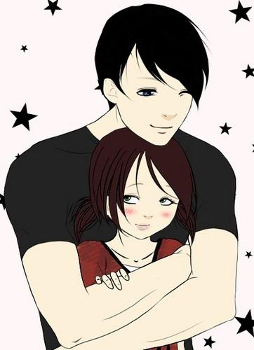 Older Phil/Jen hug<3